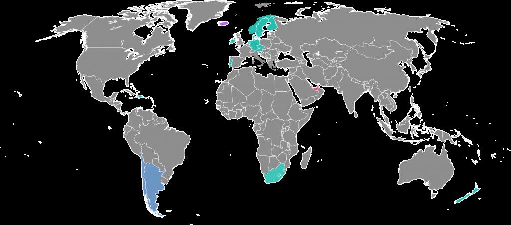 Karte Reiseziele Neu